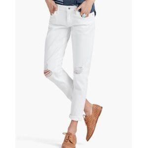 Lucky Brand White Sienna Slim Boyfriend Jeans